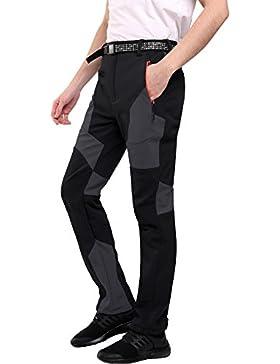 [Patrocinado]Sidiou Group Pantalones de trekking Hombre Pantalones de softshell Pantalones de montaña Al aire libre Pantalones...