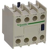 Schneider Electric LADN22 TeSys D, Bloque de contactos aux, 2 NO + 2 NC, conexión por tornillo