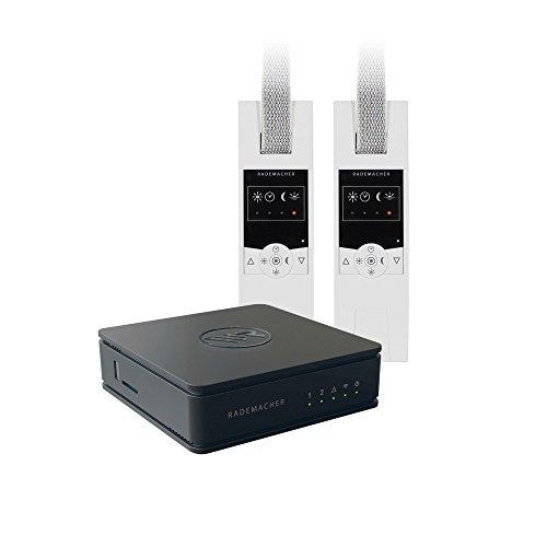 elektro jalousie RADEMACHER HomePilot Starterset Schlafenszeit HomePilot Zentrale + 2x RolloTron Standard DuoFern Funk-Gurtwickler SmartHome Starterpaket zum Automatisieren der Rollläden