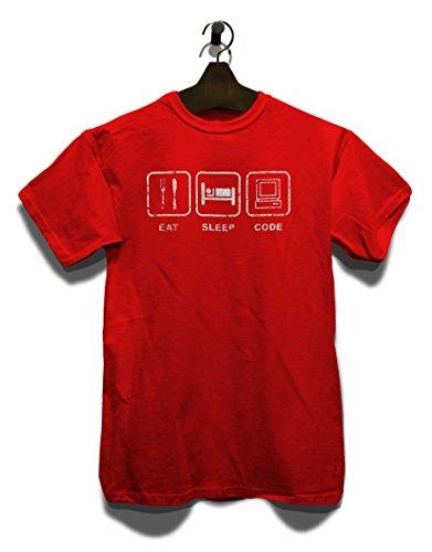 Eat Sleep Code Vintage T-Shirt Rot