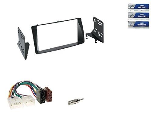 Doppel-DIN Radioeinbau-Komplettset für Toyota Corolla, Corolla Verso