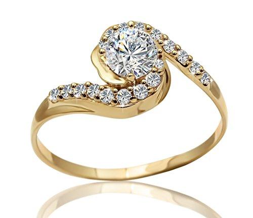 Precioso Anillo En Oro 18kt Y 0,47 quilates de 19 Diamantes G-VS1 Con Certificado GIA. Talla (7 Hasta 27).