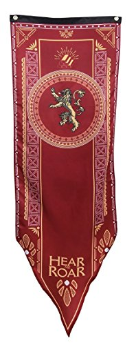 Game of Thrones Lannister Tournament Banner 60-inches tall x 19 1/4-inches wide [Official HBO Licensed]