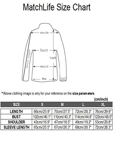 MatchLife Homme Solide Drawstring Collier Coton Parka Manteau Style2-Armée verte