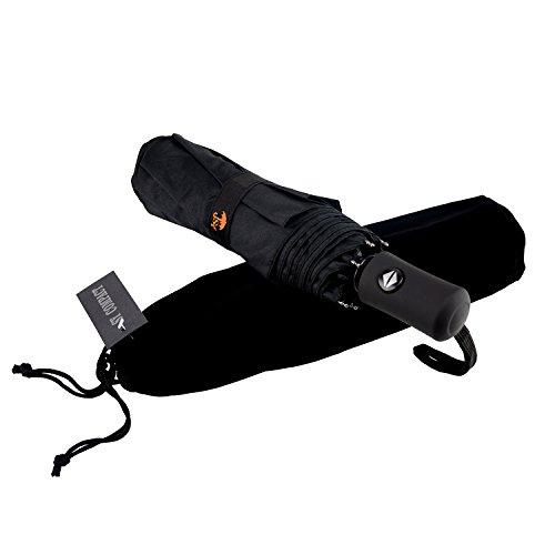 SY Voyage Compact Parapluie coupe-vent automatique léger incassable Umbrellas-factory Direct haute économique Parapluie, noir (Noir) - SY-2
