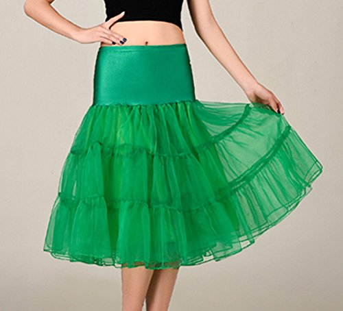 PhilaeEC Il retro dell'annata 13 degli anni '50 delle donne colpisce con il sottopiede del petticoat di Crinoline Verde