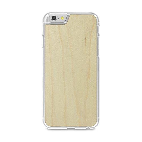 Cover-Up #WoodBack Hülle aus echtem Holz in klar für iPhone 6 / 6s - Kirsche - maple