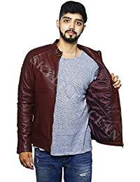 SKY LINE OCEAN GENUINE LEATHER JACKET (100% PURE LEATHER) FOR MEN