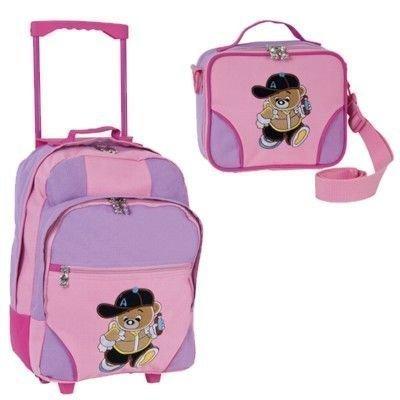 Reiseset Trolley Set Kinder Mädchen pink 2 - teilig mit Bärchenmotiv