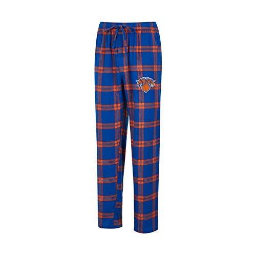 Concepts Sport NBA-Homestretch-Plaid Nachtwäsche Pyjamahose mit Taschen, Herren, New York Knicks, X-Large Plaid Overlay