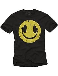 Vintage Smile T-Shirt für Herren mit KOPFHÖRER schwarz Größe S-XXXL