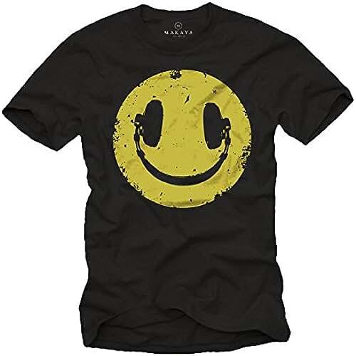 dia del orgullo friki Camiseta Negra Hombre Hipster - Auriculares Hip Hop