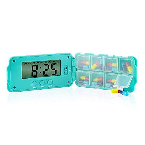 TabTime Super 8, Elektronische Pille Erinnerung mit 8 Alarm pro Tag. Essentielle für Parkinsons Patienten. Medikamentenerinnerung, Pillendose mit alarm. Tablettendose, Medikamentendosier. - Out 2 Alarm