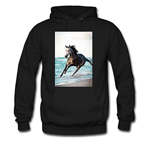 HKdiy Horses run Custom Classic Men Hoodie Black-1