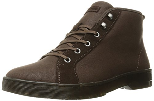 Dr.Martens Mens Coburg Waxy Canvas Boots Dark Brown