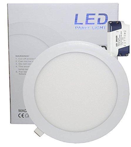 Microondas 18 W LED redonda techo Panel de luz 6000 K luz...