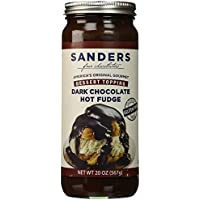 Sanders Dark Chocolate Fudge Caliente Topping Chocolate Negro