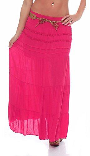 Candy Clothing Damen Asymmetrischer Rock schwarz schwarz 42 Gr. 48, fuchsia pink (Cotton Candy Fuchsia)