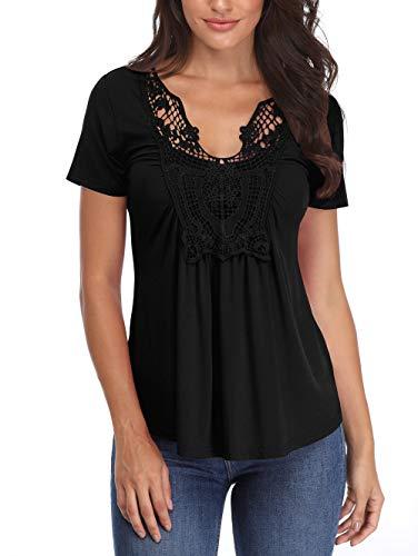 Blusas Las señoras Camisas Mujer Negro Sexy Cuello