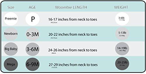Pucksack Woombie Original Dusty Rose - Einfach zu verwendender Baby-Schlafsack zum Pucken für Neugeborene bis zu 3 Monaten mit einem Gewicht von 2,5 bis 6 kg