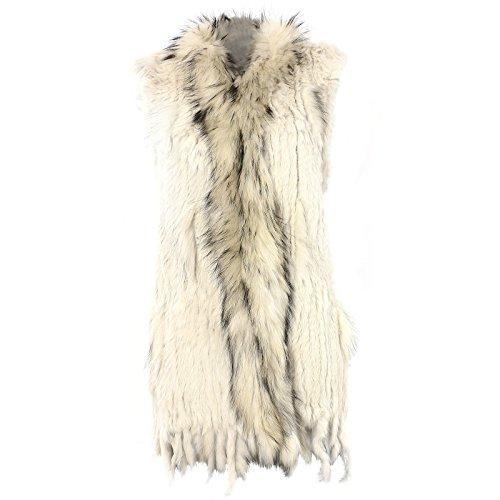 Glamexx24 gilet donna xxl giacca di pelliccia vera pelliccia di coniglio in vari colori