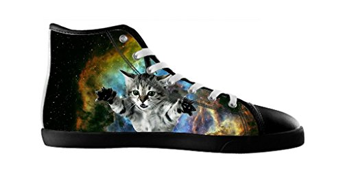 Dalliy Galaxie Katze Galaxy Cat Men's Canvas shoes Schuhe Lace-up High-top Footwear Sneakers A