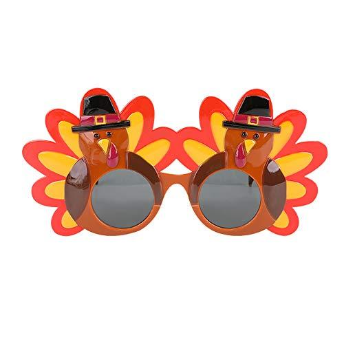 MLJ - 2 Stück Türkei Brille / Sonnenbrille für Thanksgiving Kostüm Zubehör