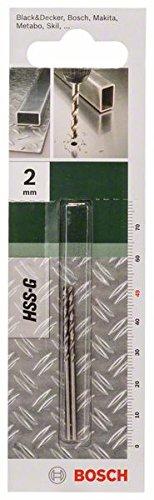 Bosch DIY Metallbohrer HSS-G geschliffen (2 Stück, Ø 2 mm)
