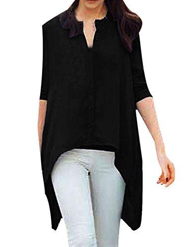 allegra-k-damen-mode-langarmelig-einreihig-ungerader-saum-bluse-baumwolle-schwarz-patchworkn100-visk