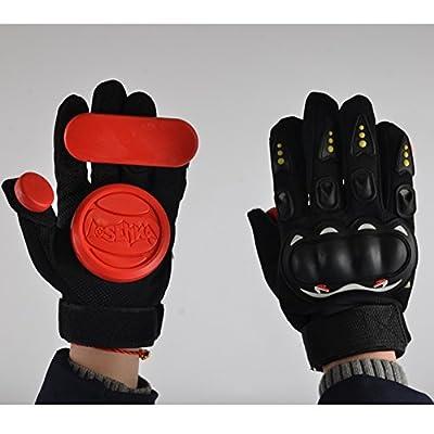 Seroda Longboard Downhill Slide Handschuhe Skate Handschuhe mit austauschbare drei Slider