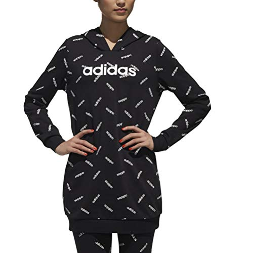 adidas Originals AOP Kapuzenpullover Damen schwarz/weiß, L