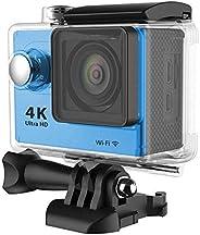 4K Ultra HD H9 2.08 بوصة LCD Full HD 1080P واي فاي اكشن كاميرا فيديو فيديو DV Sports DV 30M/Blue اللون