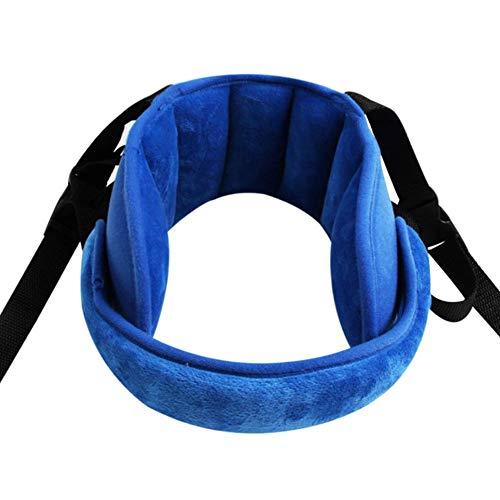 Einstellbare Kleinkind-Auto-Sitzkopfstütze-Band, Carseat Straps Cover, Safety Car Sitzansatz- Relief, Kleinkinder und Baby-Kopf-Support, Blau