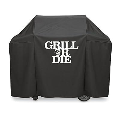 GRILL OR DIE Grillabdeckung für Holzkohlegrill ? schwarz mit Aufdruck in Premium-Qualität ? neues Barbecue Zubehör 2016 - Amazon Aktion
