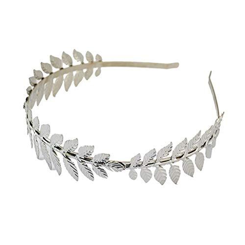 n Griechischen Göttin Stirnband Metallic Gold Silber Blätter Branch Crown Haarband Hochzeit Braut Tiara Shimmer Haarschmuck ()