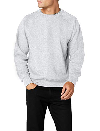 Fruit of the Loom Herren Sweatshirt Gr. L (Herstellergröße: Large) Grau - Heather Grey