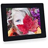 Jimwey Digital Photo Frame 8 Inch Motion Sensor 4:3 IPS Display Electronic Picture Frame 1080P High Resolution Wall Mountable with Video Player, Calendar, Alarm, Auto Power ON/Off, Remote Control