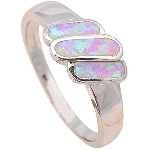 Bling alla Moda Anelli di nozze per donna popolare argento 925fashion jewelry luce viola opale di fuoco Anelli or639a - Star Ruby Set Di Nozze