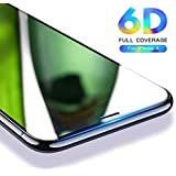 "6D Anti-Scratch, Ultra-Clear Tempered Glass For Apple IPhone X Full Edge (5.8"") (Black, SA-APPLE-9211 IPhone X) Apple 10"