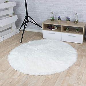 Teppich Rund 120 Cm Weiss Deine Wohnideen De