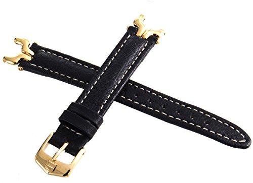Tag Heuer SEL schwarz Lederband Gold Ton Link Schnalle Band 13mm