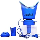 Asbob Naulakha Vaporizer with 3 Attachments Facial Sauna Steamer, Nose Steamer, Nose Vaporiser, Nozzle Inhaler, Cough Steamer (Blue)