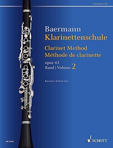 Klarinettenschule: Band 2: No. 34-52. op. 63. Klarinette in B. (Baermann - Klarinettenschule)