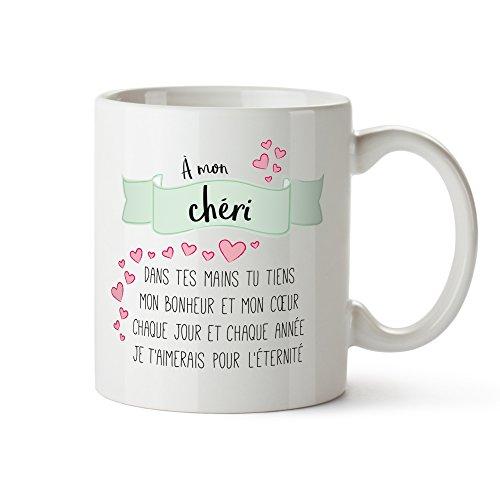 Tasse Romantique Avec Poème Damour Imprimé Chéri Standard Tasse à Thé Ou Café Cadeau Danniversaire Anniversaire De Couple Saint Valentin