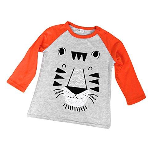 New Kids ragazzi Leone Stampa manica lunga t-shirt