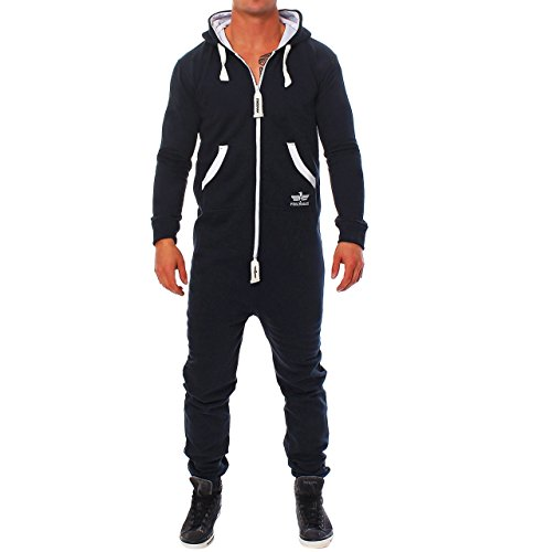 CS3 Finchman Herren Jumpsuit Jogging Anzug Trainingsanzug Overall Navy XL