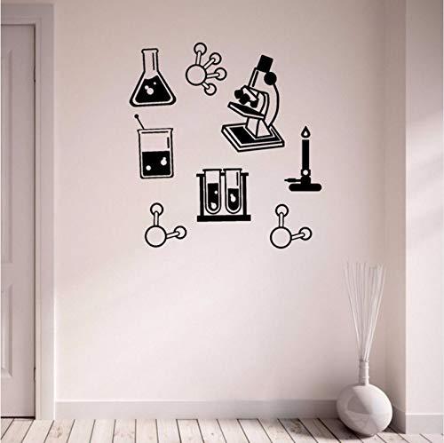 Fushoulu 42X45 Cm Wissenschaft Bündel Vinyl Wandaufkleber Chemie Klassenzimmer Wasserdichte Dekoration Mikroskop Wandkunst Aufkleber Diy Lehrer Aufkleber