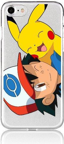 POKEMON iPHONE 5/5s Schutz Hülle Disney Cartoon Comic Anime Motive Case blauer Pokeball iPhone 5 Pikachu auf Schulter
