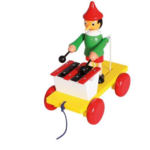 Bino & Mertens 80037 - Ziehfigur Pinocchio mit Xylophon