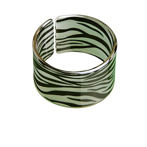 Zebra Armband (Freak Scene® Armreif ° Armschmuck ° Leopard & Zebra Muster ° Modell: Zebramuster - 5 cm)